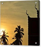 Sunset In The Tempel Acrylic Print
