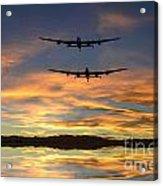 Sunset Lancasters Acrylic Print
