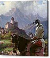 Swedish Elkhound - Jamthund Art Canvas Print Acrylic Print