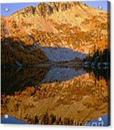 Switchback Peak On Cooney Lake Acrylic Print