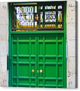 The Doors Of Madrid Spain Xii Acrylic Print