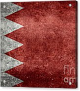The Flag Of The Kingdom Of Bahrain Vintage Version Acrylic Print