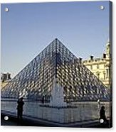 The Glass Pyramid Of The Musee Du Louvre In Paris France Acrylic Print