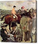 The Horse Race Acrylic Print by Jean Louis Forain