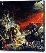 The Last Day Of Pompeii Acrylic Print