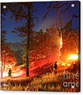 The Oaks On Fire Acrylic Print