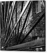 The Old Mill-black And White Acrylic Print
