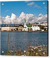 The Pond In Reykjavik. Acrylic Print