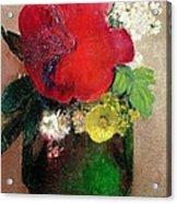 The Red Poppy Acrylic Print by Odilon Redon