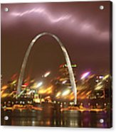 Thunderstorm Over The Arch Acrylic Print