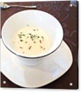 白インゲンのスープ Acrylic Print