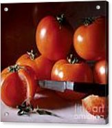 Tomatoes And A Knife Acrylic Print