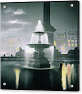 Trafalgar Square At Night  Showing Acrylic Print