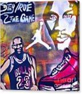 Truly Michael Jordan  Acrylic Print by Tony B Conscious