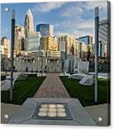 View Of Charlotte Skyline Acrylic Print