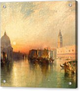 View Of Venice Acrylic Print