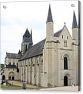West Facade Of The Church - Fontevraud Abbey Acrylic Print