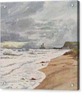 Whitby, Yorkshire A Deserted Beach Acrylic Print