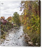 White Laural Creek- Mid-town Damascus Acrylic Print