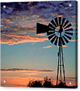Windmill At Dawn Acrylic Print