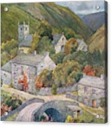 Yorkshire Scenery Muker In Swaledale Acrylic Print
