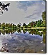001 Reflecting At Forest Lawn Acrylic Print