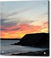 0010 Awe In One Sunset Series At Erie Basin Marina Acrylic Print