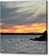 0011 Awe In One Sunset Series At Erie Basin Marina Acrylic Print