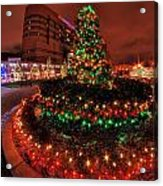 0011 Christmas Light Show At Roswell Series Acrylic Print