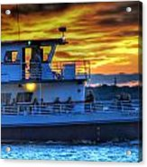 0017 Awe In One Sunset Series At Erie Basin Marina Acrylic Print