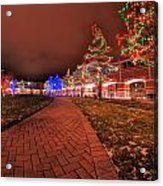 002 Christmas Light Show At Roswell Series Acrylic Print