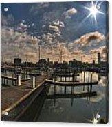 002 Erie Basin Marina D Dock Acrylic Print