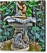 002 Fountain Buffalo Botanical Gardens Series Acrylic Print