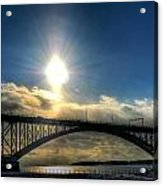 002 Peace Bridge In Passing  Acrylic Print