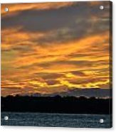 004 Awe In One Sunset Series At Erie Basin Marina Acrylic Print