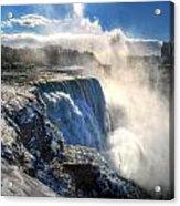 004 Niagara Falls Winter Wonderland Series Acrylic Print
