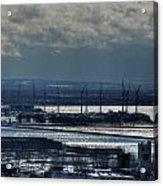 0046 Winter Turbines  Acrylic Print