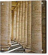 0056 Roman Pillars St. Peter's Basilica Rome Acrylic Print