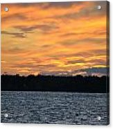 006 Awe In One Sunset Series At Erie Basin Marina Acrylic Print