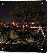 006 Japanese Garden Autumn Nights   Acrylic Print