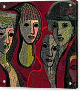 006 - Women And Masks ...  Acrylic Print