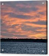 007 Awe In One Sunset Series At Erie Basin Marina Acrylic Print