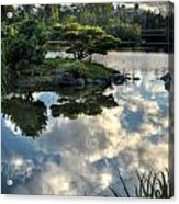 007 Delaware Park Japanese Garden Mirror Lake Series Acrylic Print