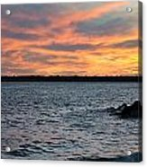 008 Awe In One Sunset Series At Erie Basin Marina Acrylic Print