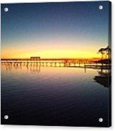 0103 Sunset Twilight On Santa Rosa Sound Acrylic Print