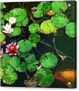 0148-lily -   Oil Stain Sl Acrylic Print