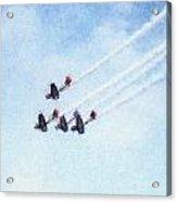 0161 - Air Show - Pastel Chalk 2  Acrylic Print