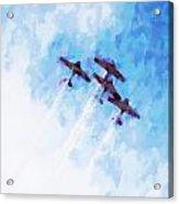 0166 - Air Show - Oil Stain Acrylic Print