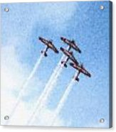 0166 - Air Show - Pastel Chalk 2 Acrylic Print