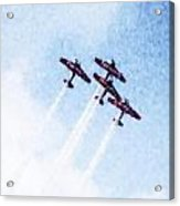 0166 - Air Show - Watercolor 1 Acrylic Print